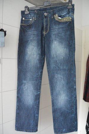 Gucci Trousers dark blue-steel blue