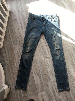 Gucci Straight Leg Jeans blue-neon blue cotton
