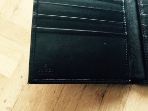 GUCCI 'Jeans/Stoff ' Portemonnaie für Scheine, Karten - kein Münzfach