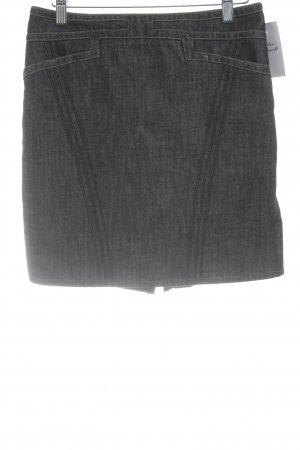 Gucci Jeansrock wollweiß-graublau meliert Casual-Look