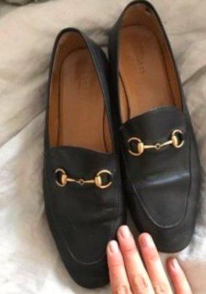 Gucci Scarpa slip-on nero-sabbia Pelle