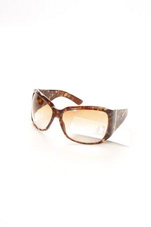 Gucci Karée Brille dunkelbraun-beige extravaganter Stil
