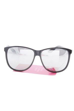 Gucci Vierkante bril zwart Logo in reliëf