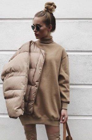 GUCCI Kaschmir Pullover Rollkragen 34-36 Beige Braun Cashmere Sweater Camel Brown XS