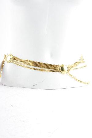 Gucci Cinturón de cadena color oro elegante