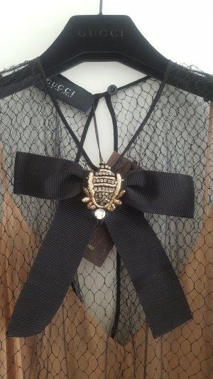 Gucci Vestido de noche negro-nude