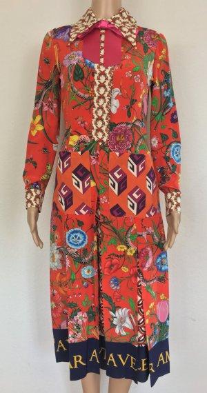 Gucci Midi-jurk rood Zijde