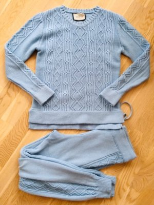 Gucci Knitted Twin Set azure