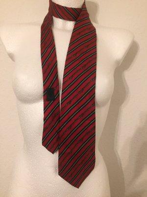 Gucci Cravate ascot rouge foncé-vert foncé
