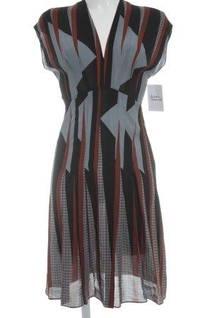Gucci Kurzarmkleid abstraktes Muster Elegant