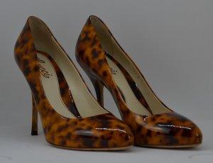 Gucci Lackleder Pumps mit Leopardenmuster