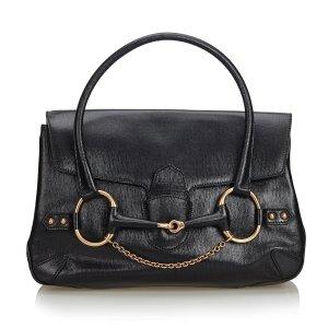 Gucci Large Horsebit Leather Handbag
