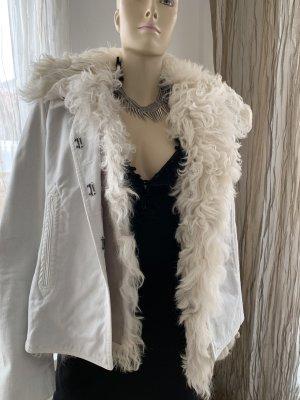 Gucci Chaqueta doble blanco puro tejido mezclado