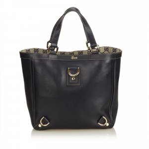 Gucci Leather Abbey Line D Ring Tote