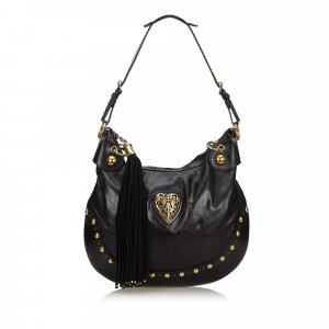 Gucci Leather Babouska Hobo Bag