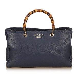 Gucci Leather Bamboo Shopper Medium