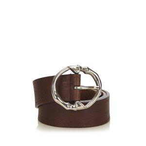 Gucci Belt dark brown leather