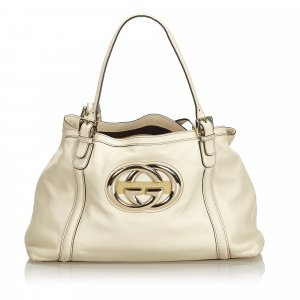 Gucci Leather Britt Tote Bag
