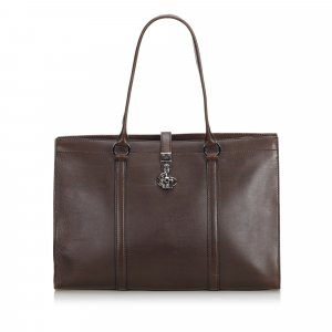 Gucci Business Bag brown leather
