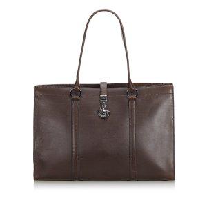 Gucci Serviette brun cuir