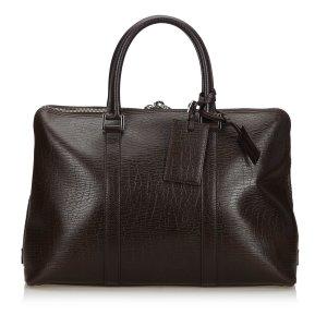 Gucci Bolso business marrón oscuro Cuero