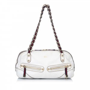 Gucci Shoulder Bag white leather