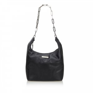 Gucci Leather Chain Hobo Bag