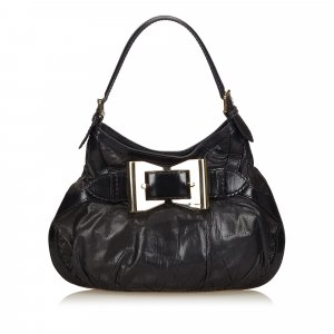 Gucci Leather Dialux Queen Hobo Bag