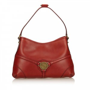 Gucci Leather Double G Bag