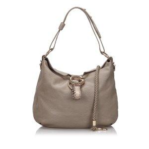 Gucci Leather G Wave Shoulder Bag