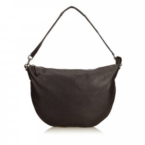 Gucci Leather Half Moon Hobo Bag