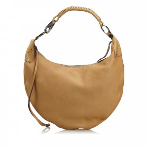 Gucci Leather Half Moon Hobo Bag