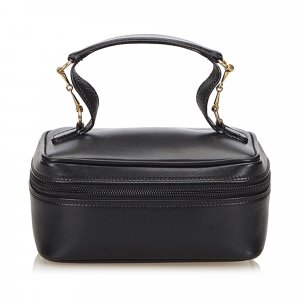 Gucci Leather Horsebit Vanity Bag