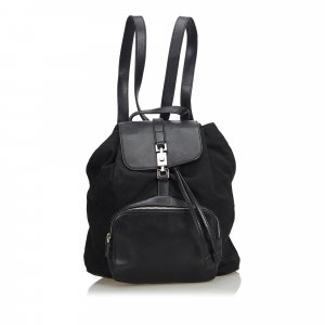 Gucci Leather Jackie Drawstring Backpack