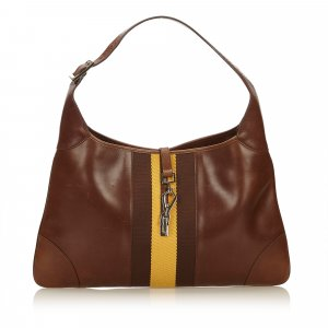 Gucci Bolsa de hombro marrón oscuro Cuero