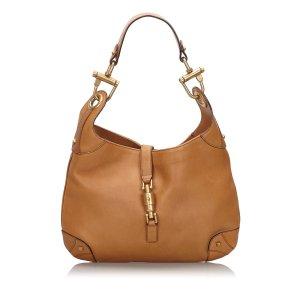 Gucci Leather Nailhead New Jackie Shoulder Bag