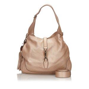 Gucci Leather New Jackie Tassel Hobo Bag