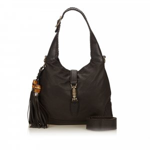 Gucci Leather New Jackie Tassel Satchel