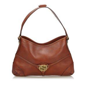 Gucci Leather Reins Hobo Bag