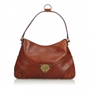Gucci Leather Reins Shoulder Bag
