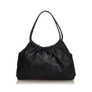 Gucci Leather Ring Handle Shoulder Bag
