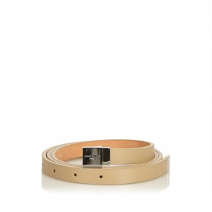 Gucci Belt beige leather
