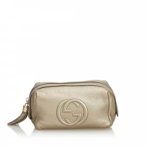 Gucci Leather Soho Pouch
