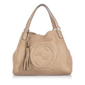 Gucci Leather Soho Tote Bag