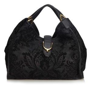 Gucci Borsa sacco nero Scamosciato