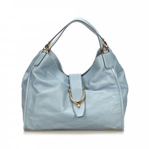 Gucci Leather Stirrup Hobo Bag