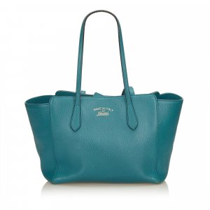 Gucci Tote blauw Leer