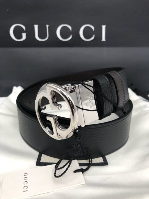 Gucci Double Belt black-brown