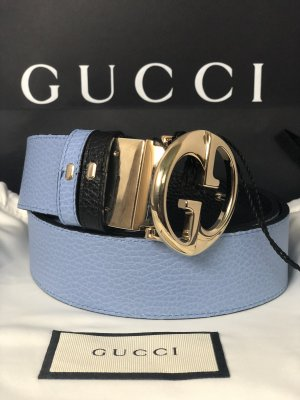 Gucci Double Belt black-azure