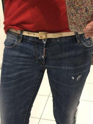Gucci Leder Gürtel mit Logo schnalle nude 80cm